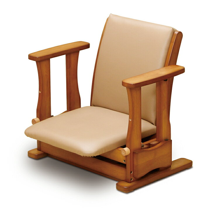 国産 中居木工 木製 起立補助椅子 ロータイプ