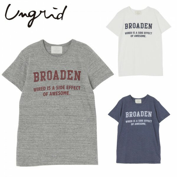 Ungrid(アングリッド)4,490⇒3,592(20%OFF)BROADENプリントTee(111620615601)Tシャツ カットソー バッグ レディース カジュアル