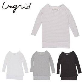 Ungrid(アングリッド)5,990⇒4,792(20%OFF)スリットロングスリーブTee(111642705101)Tシャツ スリット レディース カジュアル