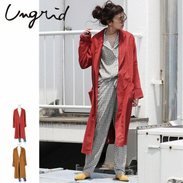 Ungrid(アングリッド)フェイクスウェードガウン(111740039201)2017Autumn新作 ロングコート スウェード レディース カジュアル 送料無料 代引手数料無料