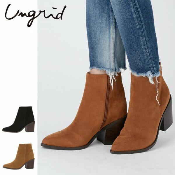 Ungrid(アングリッド)フェイクスウェードブーツ(111761888901)2017Winter新作 ブーツ レディース カジュアル 送料無料 代引手数料無料