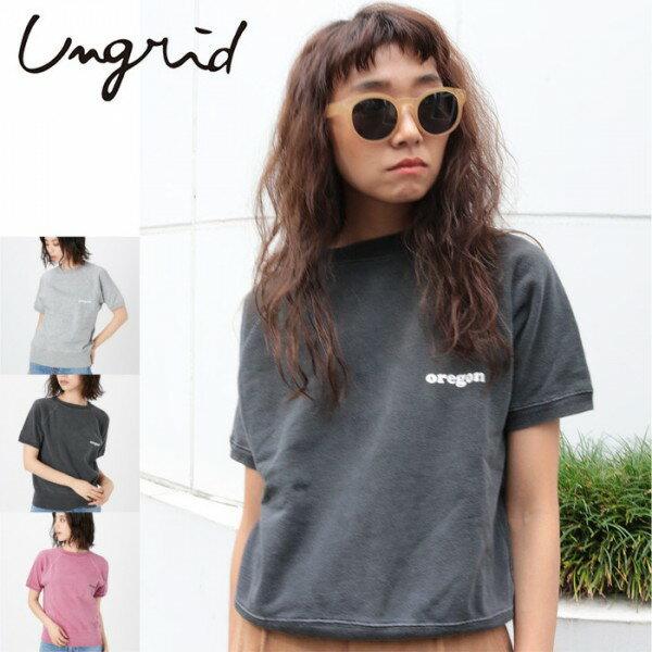 Ungrid(アングリッド)oregonハーフスリーブスウェット(111822720201)2018Spring新作 Tシャツ レディース カジュアル