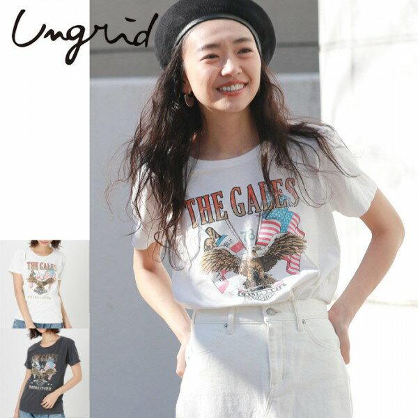 Ungrid(アングリッド)THE GALESロゴTee(111822018Summer新作 Tシャツ レディース カジュアル 送料無料