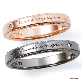 THE KISS ディズニー コレクション ペアリング 男性 女性 2個ペア シルバー リング ミッキー ミニー レディース メンズ ペア ダイヤモンド ザ・キッス お揃い 指輪 誕生日 記念日 メンズ ギフト