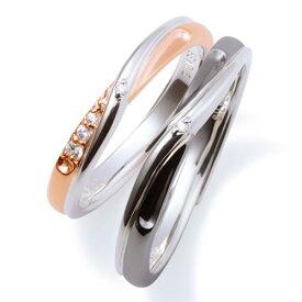 THE KISS ペアリング シルバー リング エターナルハート レディース メンズ ペア ダイヤモンド インフィニティ ザ・キッス カップル お揃い 指輪 誕生日 記念日 祝い プレゼント メンズ刻印可能