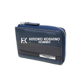 【 父の日 ギフト 】KOSHINO HIROKO HOMME ヒロココシノオム 本牛革使用 ポケット サイズ ネイビー メンズ 本革 財布 メンズ 長財布メンズ 高級 牛革 カード収納 小さい ウォレット ブランド