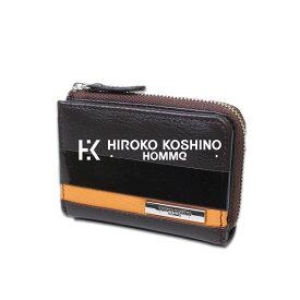 【 父の日 ギフト 】KOSHINO HIROKO HOMME ヒロココシノオム 本牛革使用 ポケット サイズ ブラウン メンズ 本革 財布 メンズ 長財布メンズ 高級 牛革 カード収納 小さい ウォレット ブランド