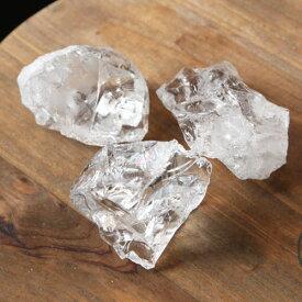 水晶 原石 (小) 1個【置物 かち割り 浄化 お守り ラフ 天然石 パワーストーン 2000900800906】