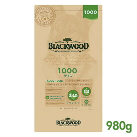 【ポイント10倍】 ブラックウッド 1000 (チキンミール) 980g BLACKWOOD 【犬用/ドッグフード/ドライフード/小型犬/中型犬/大型犬/成犬/高齢犬】 【あす楽】