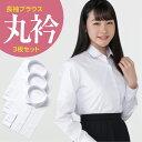 長袖 女子 学生丸衿ブラウス 白 3枚セット   制服 女子 スクール 丸襟 ホワイト 形態安定 抗菌消臭 a体 b体 衣替え …
