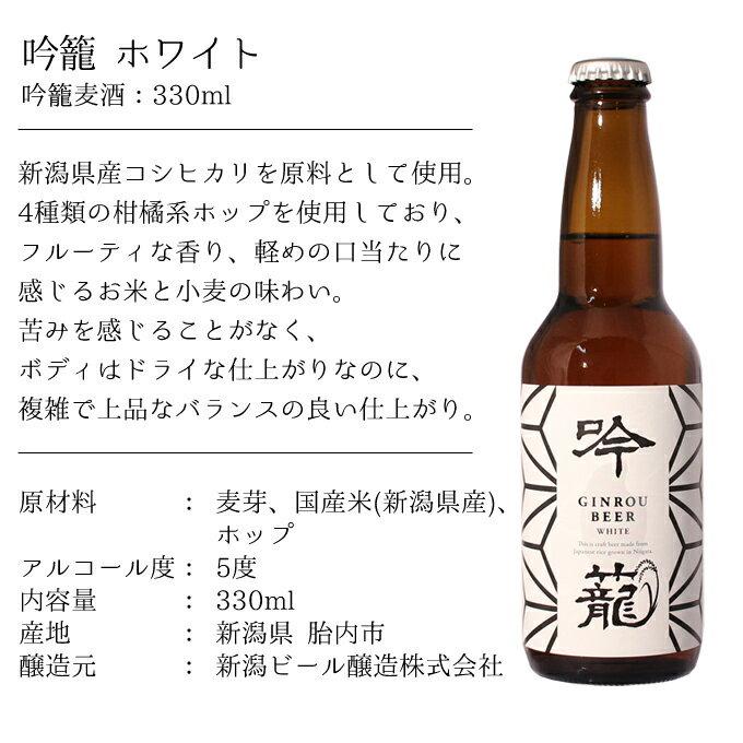 胎内高原ビール吟籠WHITE商品説明