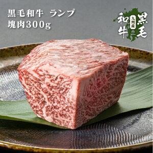 九州産黒毛和牛 ランプ 塊肉 ブロック 300g 焼肉用【#元気いただきますプロジェクト】
