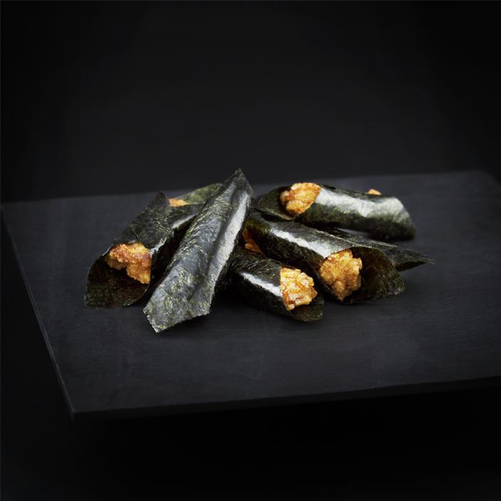 海苔巻き揚げ煎 (揚げ煎 醤油 海苔 和菓子 人気 東京土産)