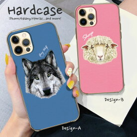 iPhone12 ケース 12Pro Max mini SE 2 第2世代 iPhone11 iPhone XR XS MAX iPhone 8 7 Plus Xperia Huawei galaxy ハード スマホケース 動物 animal アニマル オオカミ キリン カラフル