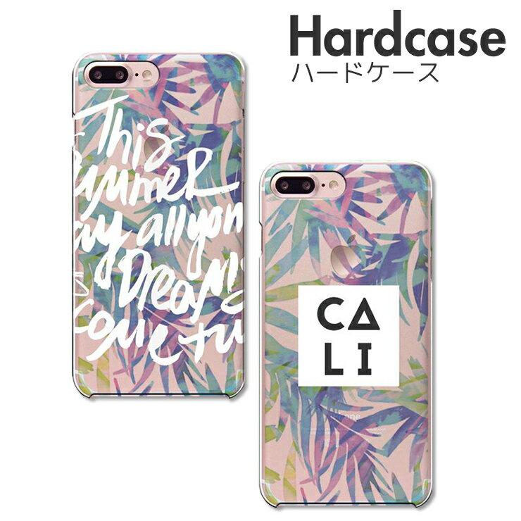 iPhoneXS/X XSMAX iPhoneXR iPhone 8 8Plus 7 7Plus SE Xperia Huawei galaxy ハード ケース スマホケース 半透明 クリアケース スマホ本体のカラーを楽しむハードケース パームツリー palmtree hawaii おしゃれ ハワイ