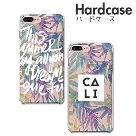 iPhone11 ケース iPhone XR XS/X XSMAX iPhone 8 8Plus 7 7Plus SE Xperia Huawei galaxy ハード スマホケース 半透明 クリアケース スマホ本体のカラーを楽しむハードケース パームツリー palmtree hawaii おしゃれ ハワイ