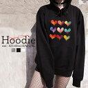パーカー レディース メンズ スウェット パーカー プルオーバー hoodie 長袖 フード付き ペア カップル XS S M L XL ペア カップル おそろ リンクコーデ ハート 水彩 heart 可愛い 大人かわいい