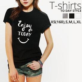 Tシャツ レディース メンズ Uネック クルーネック 丸首 綿 半袖 カットソー () にこちゃん ニコちゃん スマイル ロゴ 大人かわいい かわいい かっこいい オシャレ ポイント シンプル ペア カップル おそろ リンクコーデ
