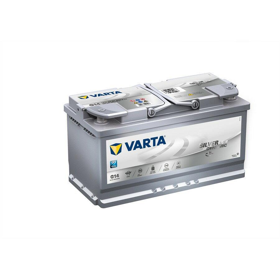 G14 VARTA (バルタ) 輸入車用バッテリー SILVER DYNAMIC(シルバーダイナミック)AGM 595 901 085 互換:61216919342/EK900-L5 他[ドイツ製][廃バッテリー無料回収]