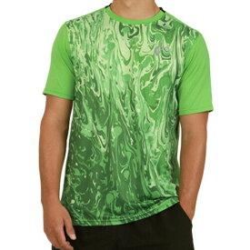 【SALE】アスレチックDNA メンズ テニス ウェア サマー メッシュ バック マッチ クルーシャツ Lava
