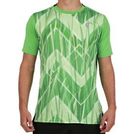 【SALE】アスレチックDNA メンズ テニス ウェア サマー メッシュ バック マッチ クルーシャツ Up and Down