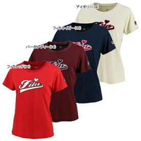 フィラ レディース テニスウェア ベロアロゴ Tシャツ (VL2027)