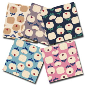 1m単位切り売り 綿麻キャンバス プリント 北欧調 フラワー 5色あります