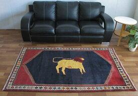 ギャッベ ギャベ/カシュガイ、絨毯のような細かな織 196×128cm