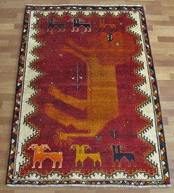 ギャッベ ギャベ/カシュガイ、絨毯のような細かな織 180×124cm