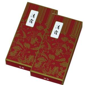 鳩居堂 お線香 清靄 紙箱 バラ詰 約100g 14cm 2箱セット