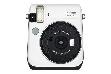 """【ラッピング無料】【送料無料】富士フイルム """"チェキ""""instax mini70 ホワイト チエキカメラ INS MINI 70 WHITE"""