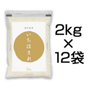令和2年(2020年) 福井県産 いちほまれ<2年連続 特A評価> 24kg(2kg×12袋)【白米】【送料無料】【米袋は真空包装】【即日出荷】