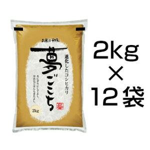 令和2年(2020年) 新米 石川県産 夢ごこち 白米・玄米 24kg(2kg×12袋)【送料無料】【特別栽培米】【即日出荷は白米のみ】【米袋は真空包装】