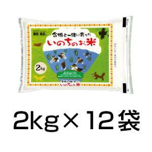 令和2年(2020年) 合鴨農法米 ヒノヒカリ  24kg(2kg×12袋)【白米・玄米 選択】【送料無料】農薬及び化学肥料は一切不使用