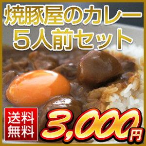焼豚屋のカレー5人前セット(オコメール3パック+カレー5パック)【送料無料】
