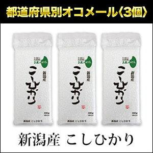 令和元年(2019年) 新潟産 こしひかり 300g(2合) × 3パック 真空パック【白米・ゆうパケット便送料込】