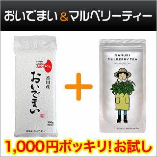 香川県産 おいでまい 白米300g(2合)×1 + マルベリーティー玄米入り 【ゆうパケット便・29年度産】【送料無料】