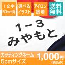 カッティングネーム5cm【送料無料】アイロン転写 ラバー素材 大きいサイズ お名前グッズ 10文字まで 選べるイラスト …