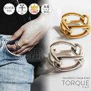 金属アレルギー対応 シルバー925 リング シンプル ゴールド リング 【TORQUE トルク】 人差し指 指輪 シルバーリング …