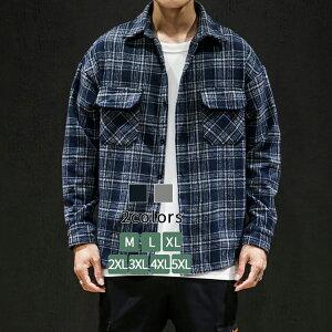 シャツジャケット チェック メンズ カジュアルシャツ 長袖 シャツ アウター ロング 大人気 ゆったり カジュアル 原宿系 ジャケット 大きいサイズ カッターシャツ ダンス 衣装 オシャレ チェ
