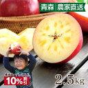 \10%OFF 楽天スーパーSALE/ お歳暮 グルメ 青森 蜜入り葉とらずふじりんご 送料無料 2.5kg 大小混合(6玉から12玉前後)サイズ リン…