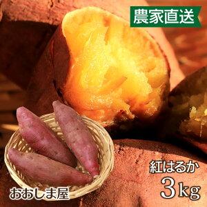 \エントリー3倍/ さつまいも  紅はるか 3kg 送料無料 <予約:11月上旬より出荷予定> サツマイモ べにはるか 生芋 さつま芋 唐芋 からいも 土付き 泥付き 野菜 旬 料理 レシピ 国産 熊本 大