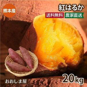 \エントリー3倍/ さつまいも 紅はるか 20kg 送料無料 <予約:11月上旬より出荷予定> サツマイモ べにはるか 生芋 さつま芋 唐芋 からいも 土付き 泥付き 野菜 旬 料理 レシピ 国産 熊本 大