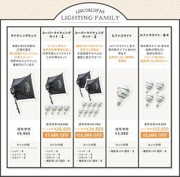 撮影照明ライト組立簡単4灯スタジオ撮影ライト照明セットキットLED商品撮影米国LincoFloraX&Zenith(ゼニス)ライトスタンド