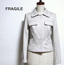 【SALE\2950→\1250】 フラジール FRAGILE / パイピンング ソフト ジャケット 【中古】 肩パッド付き アウター / #