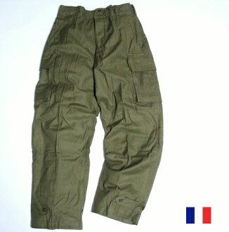 法國軍隊罕見 20 世紀 50 年代 M47 老式貨物褲子 / 品牌新軍隊軍事死股票