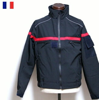 French fireman water repellency stretch blouson / jacket / Fireman dead stock firefighter