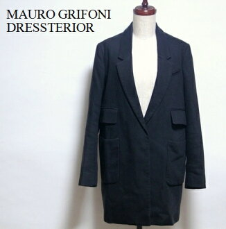 Long sleeves coat outer / MAURO GRIFONI / DRESSTERIOR / # made in マウロ グリフォーニ / long tailored jacket Italy