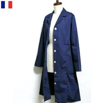 Ladies work long shirt jacket normal FRA TEX / coat blouson outer / Europe dead stock in France