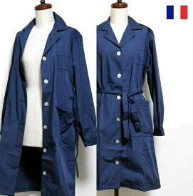 【SALE\8750→6950】 フランス Ladies ワーク ロング シャツ ジャケット ベルトタイプ FRA TEX / コート ブルゾン アウター / ヨーロッパ デッドストック